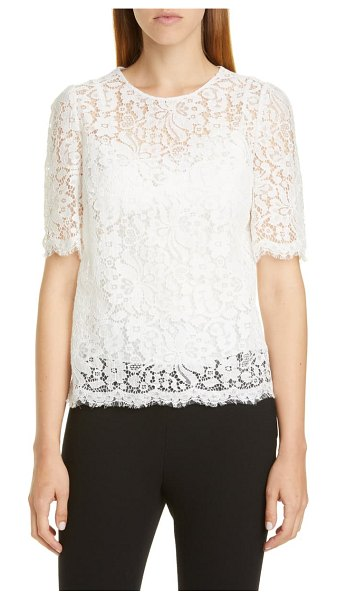 Dolce & Gabbana lace top in white