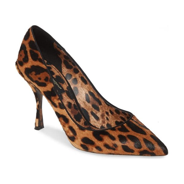 Dolce & Gabbana leopard print genuine calf hair pump in leopard