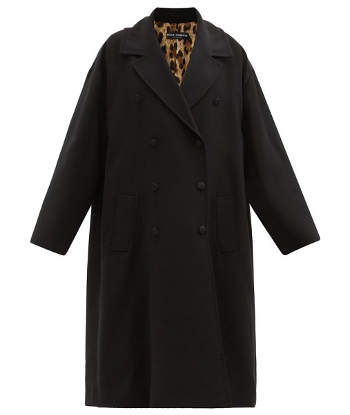 Dolce & Gabbana oversized double-breasted coat in black