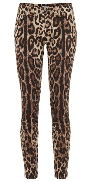 Dolce & Gabbana pretty low-rise skinny pants in multicoloured