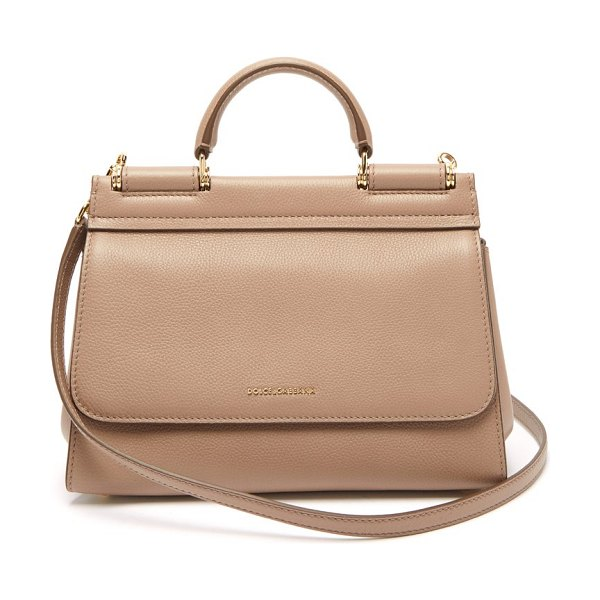 Dolce & Gabbana sicily small leather bag in beige