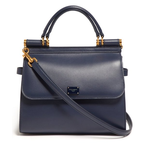 Dolce & Gabbana sicily small leather bag in navy