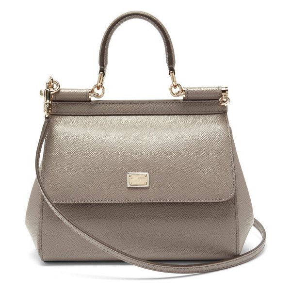 Dolce & Gabbana sicily small leather cross-body bag in grey