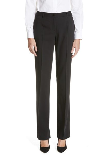 Dolce & Gabbana straight leg stretch wool trousers in black