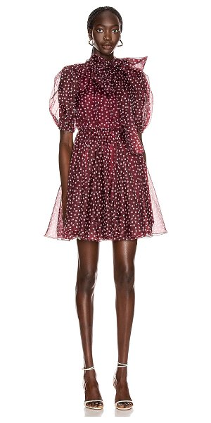 Dolce & Gabbana tie polka dot mini dress in rosa