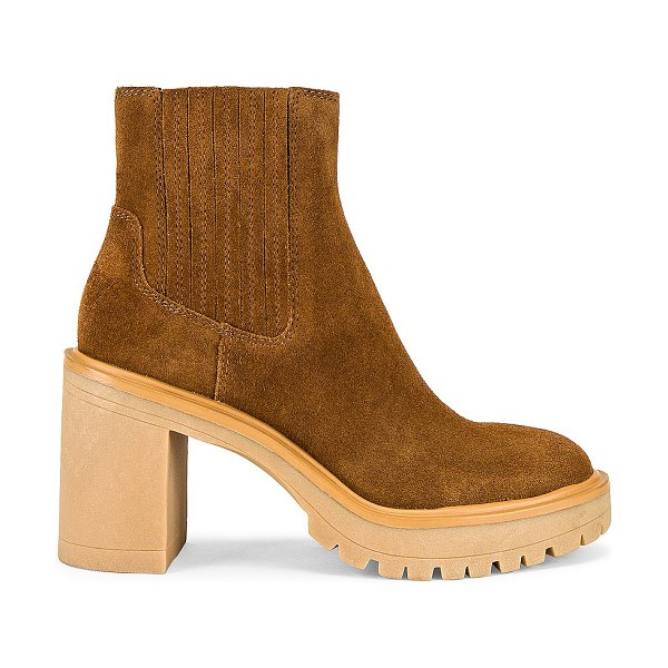 Dolce Vita caster h20 boot in camel suede h20