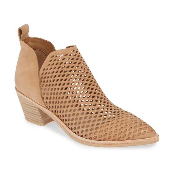 Dolce Vita sher perforated bootie in saddle