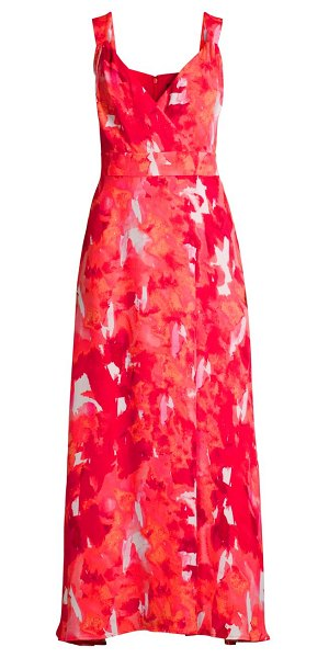 Donna Karan abstract floral dress in abstract floral