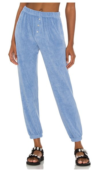 Donni. terry henley sweatpant in denim