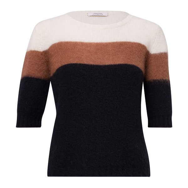 Dorothee Schumacher colorful flash color-block alpaca-blend sweater in multi