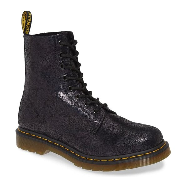 Dr. Martens 1460 pascal sparkle boot in black leather