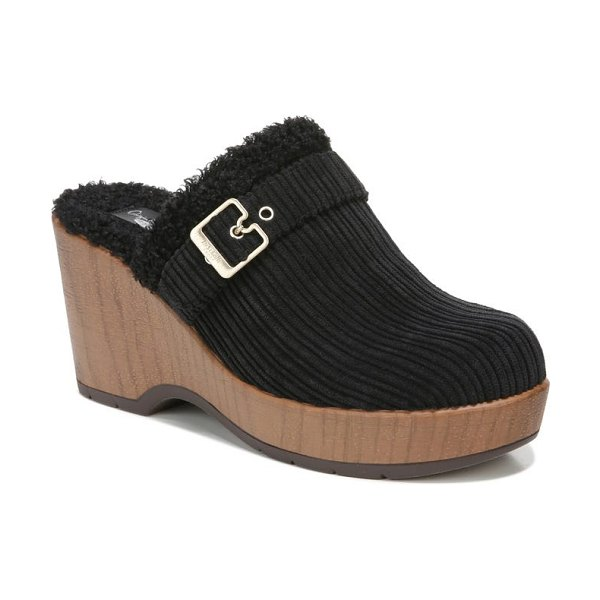 Dr. Scholl's pixie faux shearling clog in black