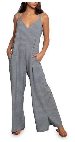 dRA colline check sleeveless jumpsuit in mini navy check