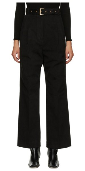 DRAE belted trousers in black