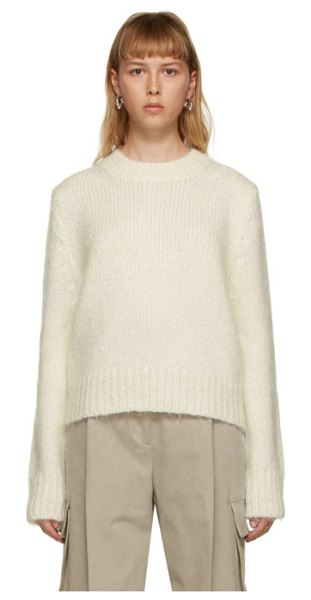 DRAE off-white mohair sweater in ivory
