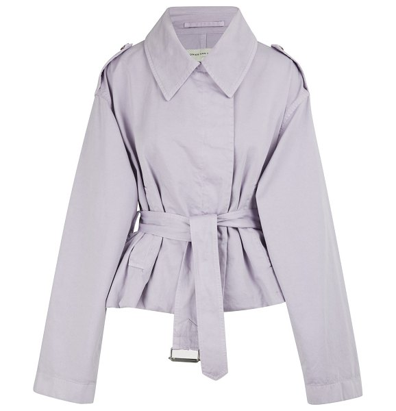 Dries Van Noten Cotton jacket in lilac