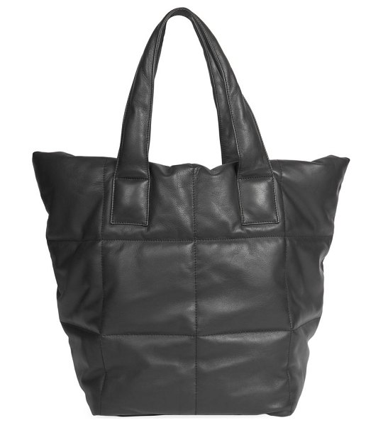 Dries Van Noten quilted leather tote in black