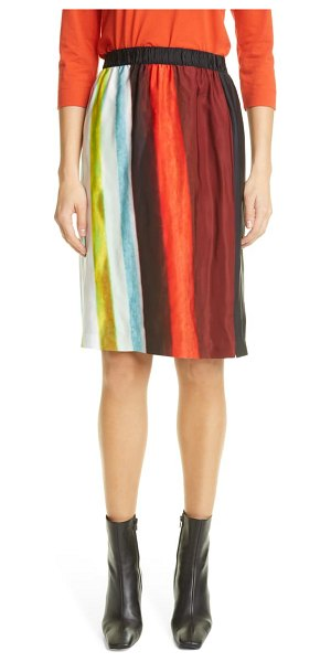 Dries Van Noten sconta print skirt in light blue
