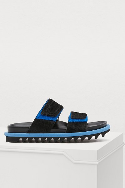 Dries Van Noten Velcro sandals in black - The creative independence and freedom that define Dries...