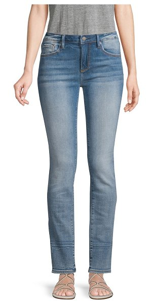 Driftwood Colette Straight-Leg Jeans in light wash