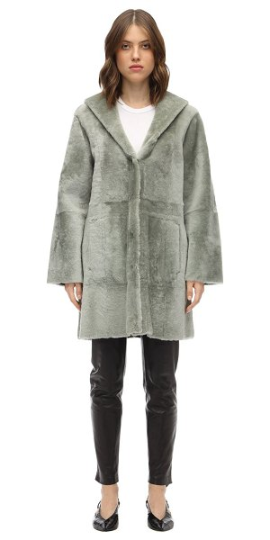 Drome Reversible hooded merinillo coat in grey