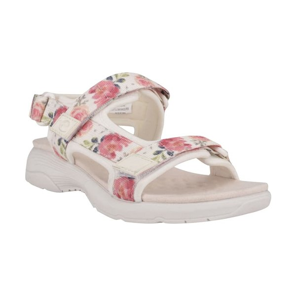 Easy Spirit tabata sandal in bright white/ white multi
