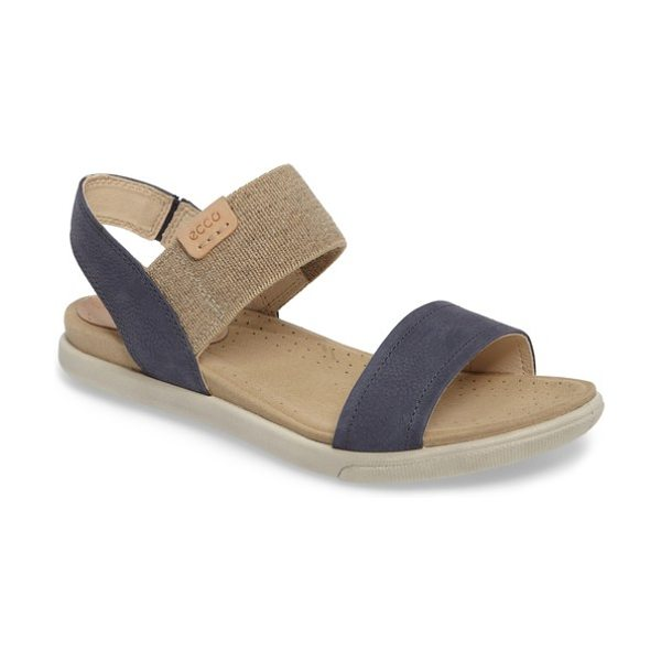 ECCO 'damara' sandal - An elastic band and goring at the side extends the...