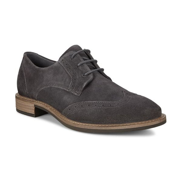 ECCO sartorelle 25 wingtip derby in magnet leather