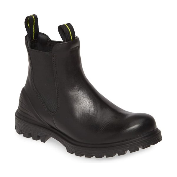 ECCO tred tray waterproof chelsea boot in black leather