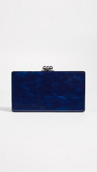 Edie Parker jean solid clutch in navy