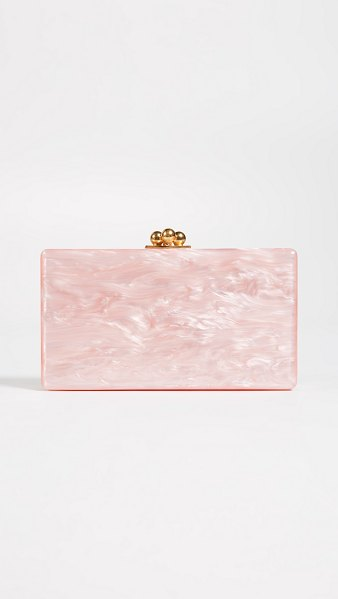 Edie Parker jean solid clutch in rose quartz