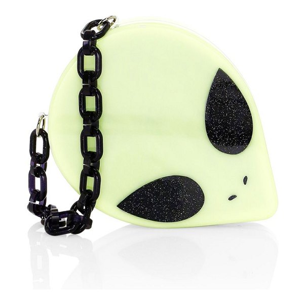 Edie Parker kyron alien head convertible clutch in glow