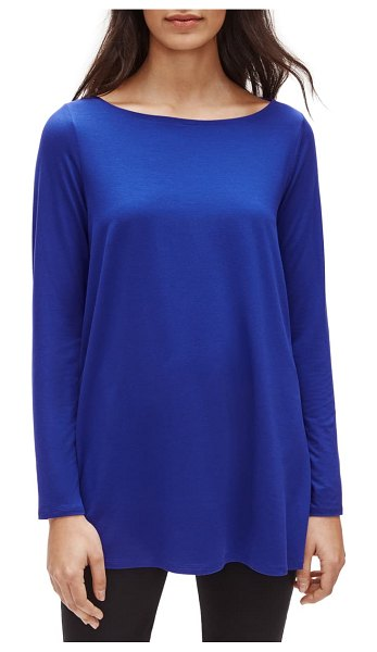 Eileen Fisher bateau neck tunic in royal