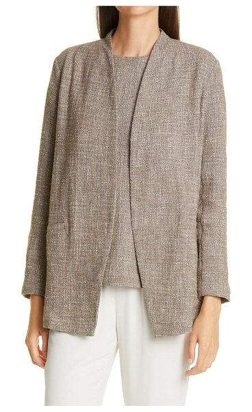Eileen Fisher cotton slub tweed jacket in drfwd