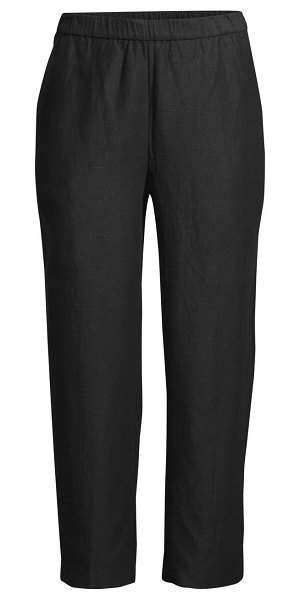 Eileen Fisher easy cropped pull-on pants in black