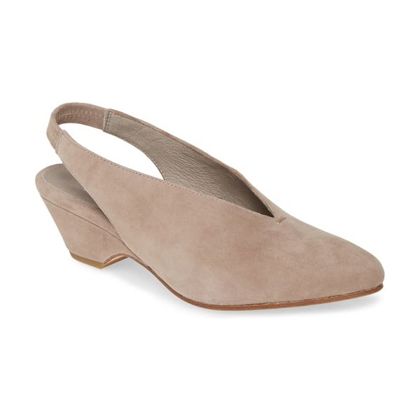 Eileen Fisher gatwick slingback pump in taupe suede