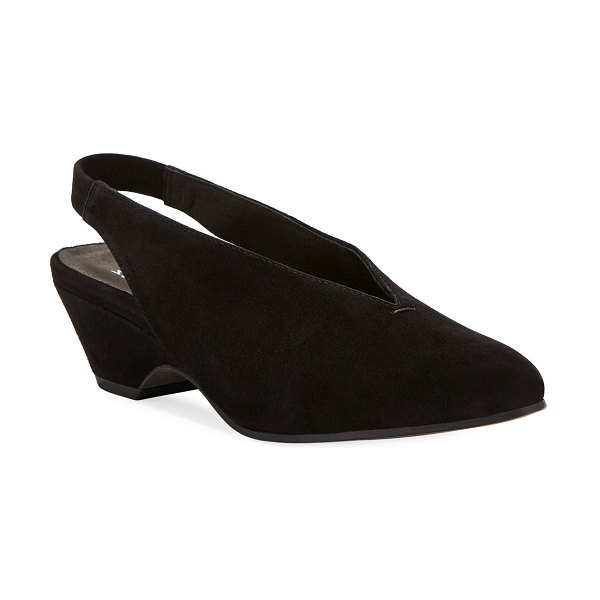 Eileen Fisher Gatwick Suede Slingback Pumps in black
