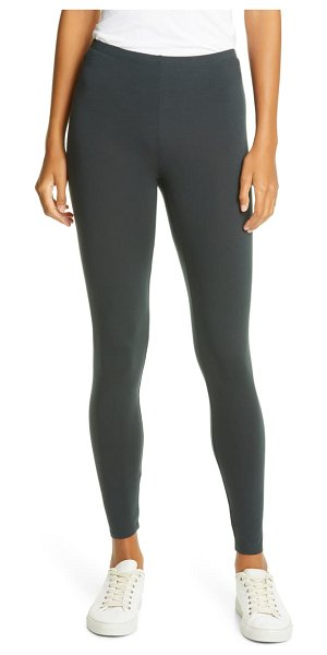 Eileen Fisher high waist silk leggings in fongt