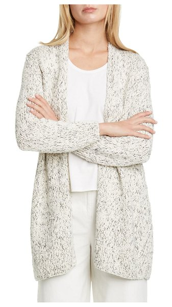Eileen Fisher long cardigan in soft white