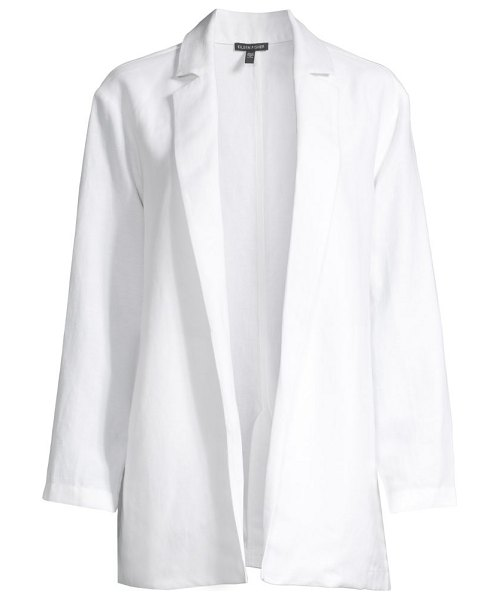 Eileen Fisher notch collar open-front blazer in white