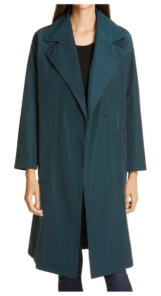 Eileen Fisher notch collar trench coat in fongt