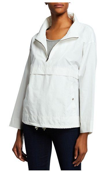 Eileen Fisher Organic Cotton/Nylon Pullover Jacket in ivory