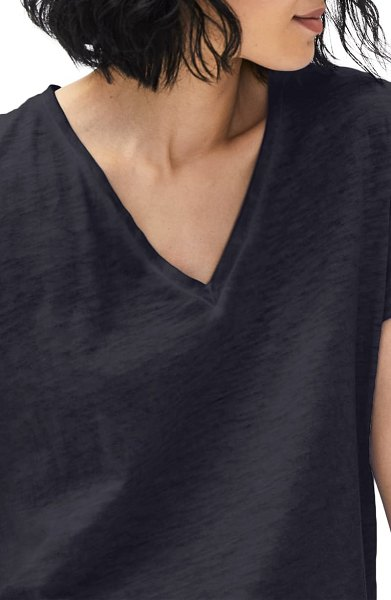 Eileen Fisher pigment dyed organic cotton t-shirt in ink