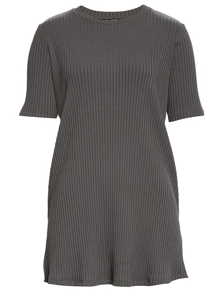 Eileen Fisher ribbed tunic in bark