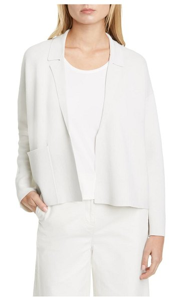 Eileen Fisher silk blend cardigan in bone