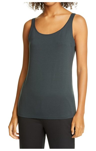 Eileen Fisher slim fit recycled scoop neck tank in fongt
