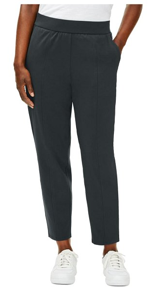 Eileen Fisher stretch cotton jersey ankle lantern pants