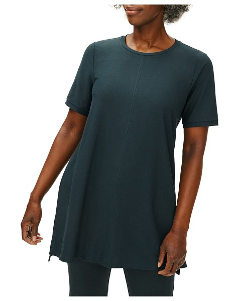 Eileen Fisher stretch crepe tunic in fongt
