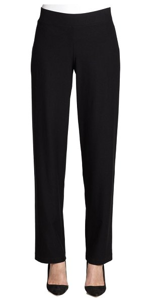 Eileen Fisher system stretch straight-leg pants in black