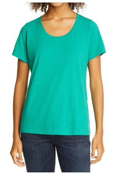 Eileen Fisher u-neck t-shirt in jadeite